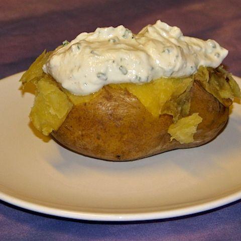 Ofenkartoffel mit Quark