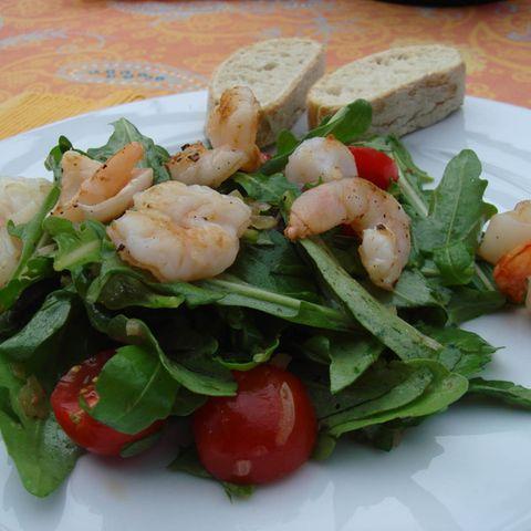 Garnelen-Rucola-Salat