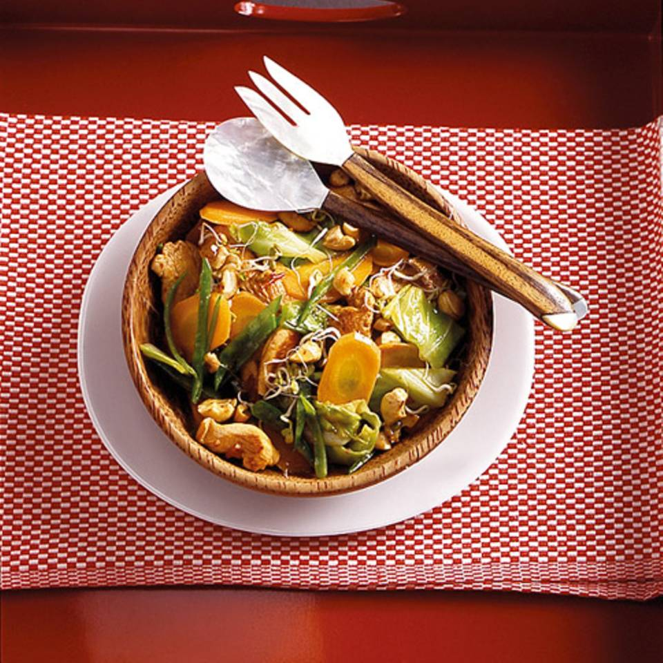Gemüse aus dem Wok Rezept