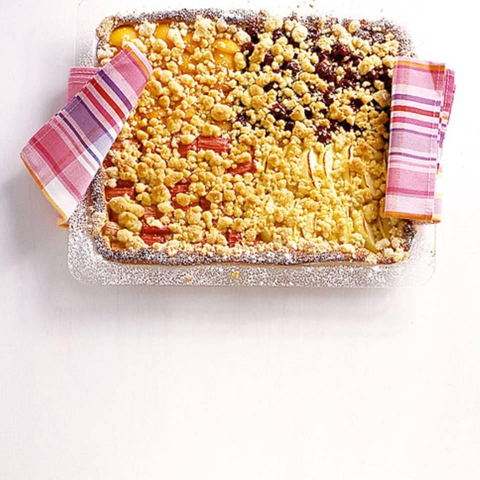 Bunter Streuselkuchen Rezept