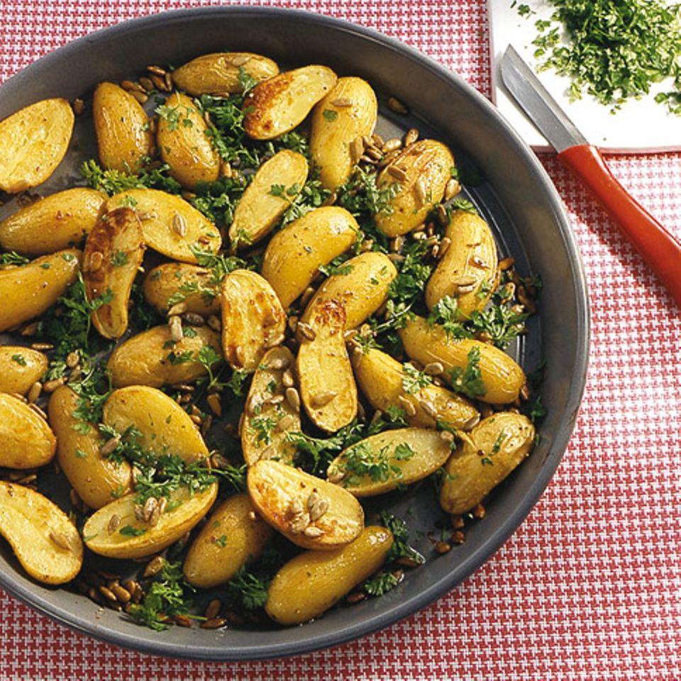 Kerbelkartoffeln vom Blech