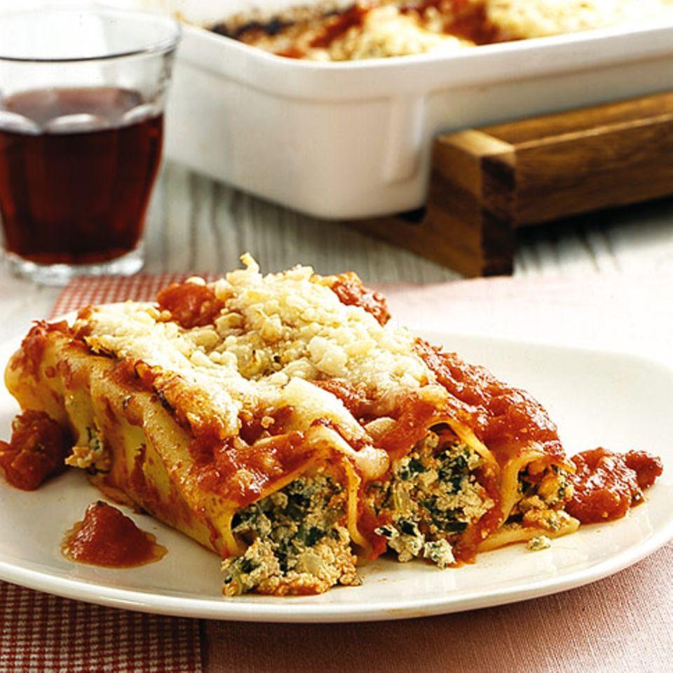 Cannelloni mit Ricotta und Mangold