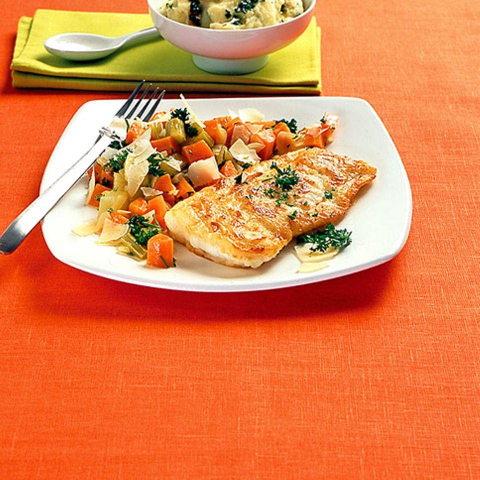Schmorgemüse mit Kabeljau