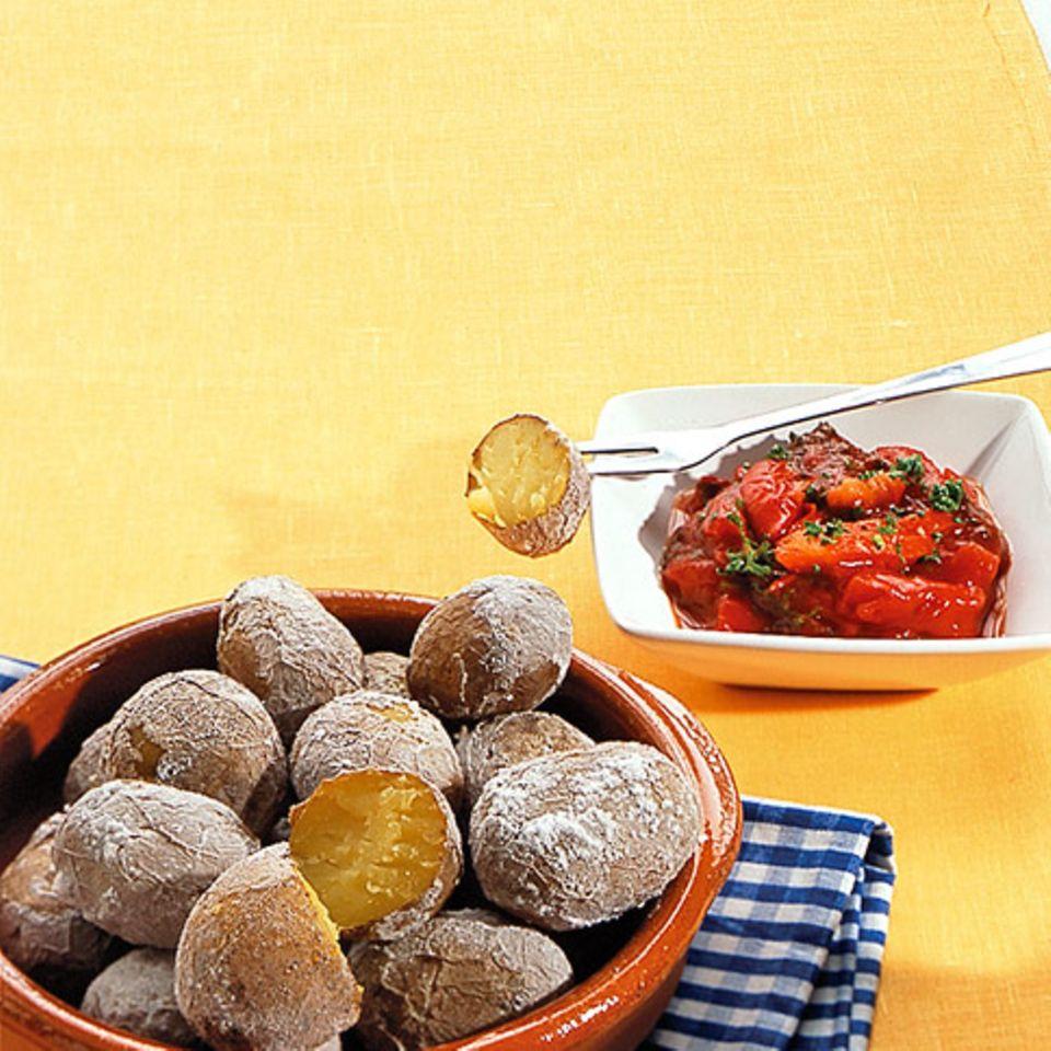 Kartoffeln in Salzkruste