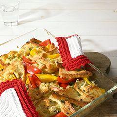 Paprika-Brot-Auflauf