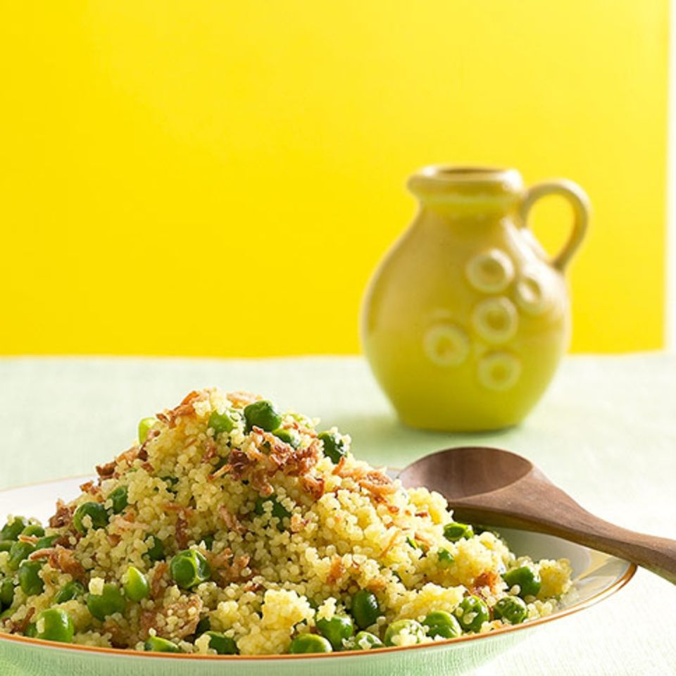 Couscous mit Erbsen