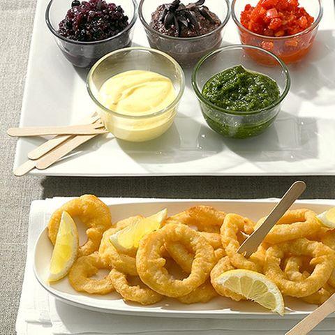Calamari mit Dips