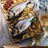 Fish and Chips mit Orange