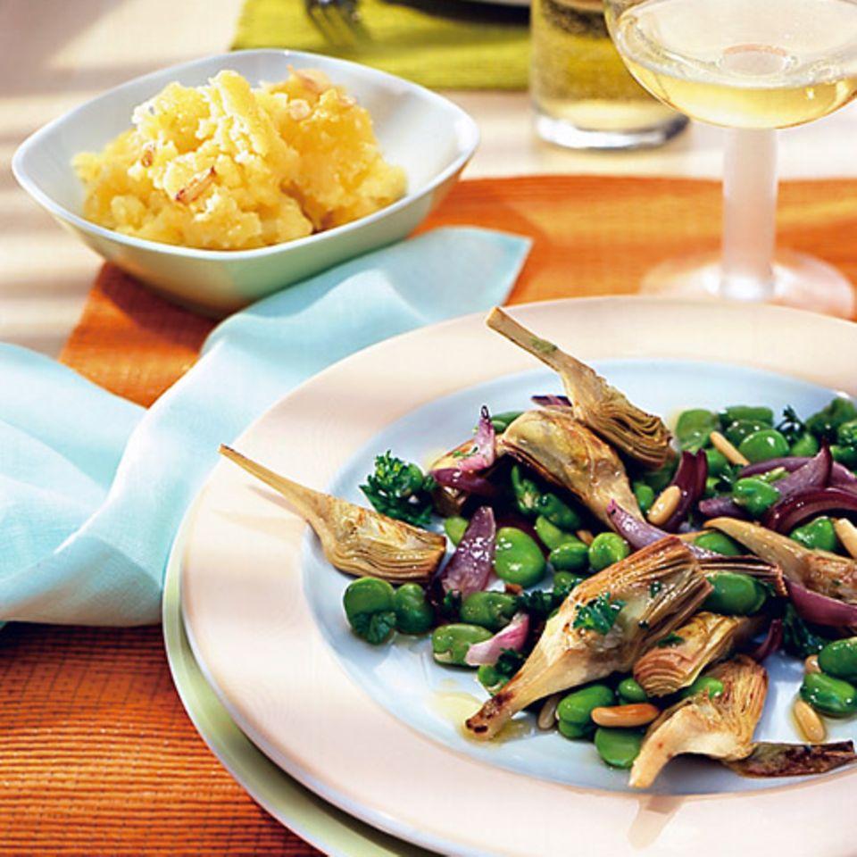 Artischocken-Bohnen-Gemüse