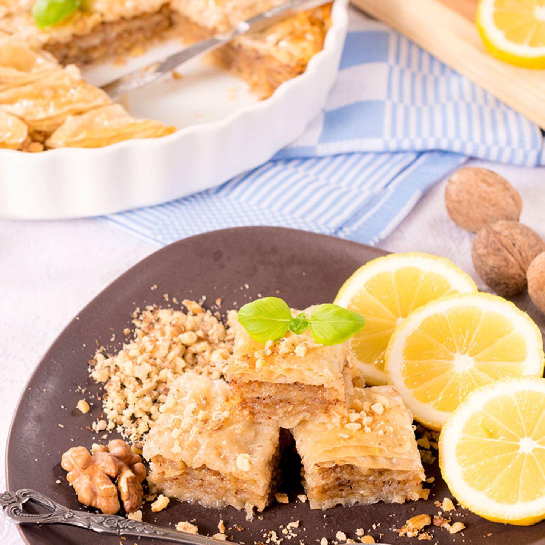 Baklava (Nuss-Honig-Schnitten)