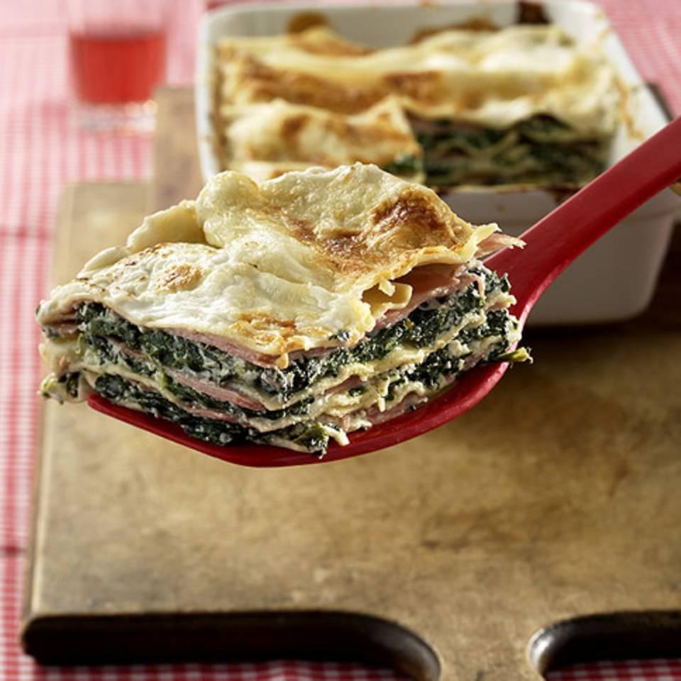 Grün-weiße Lasagne Rezept