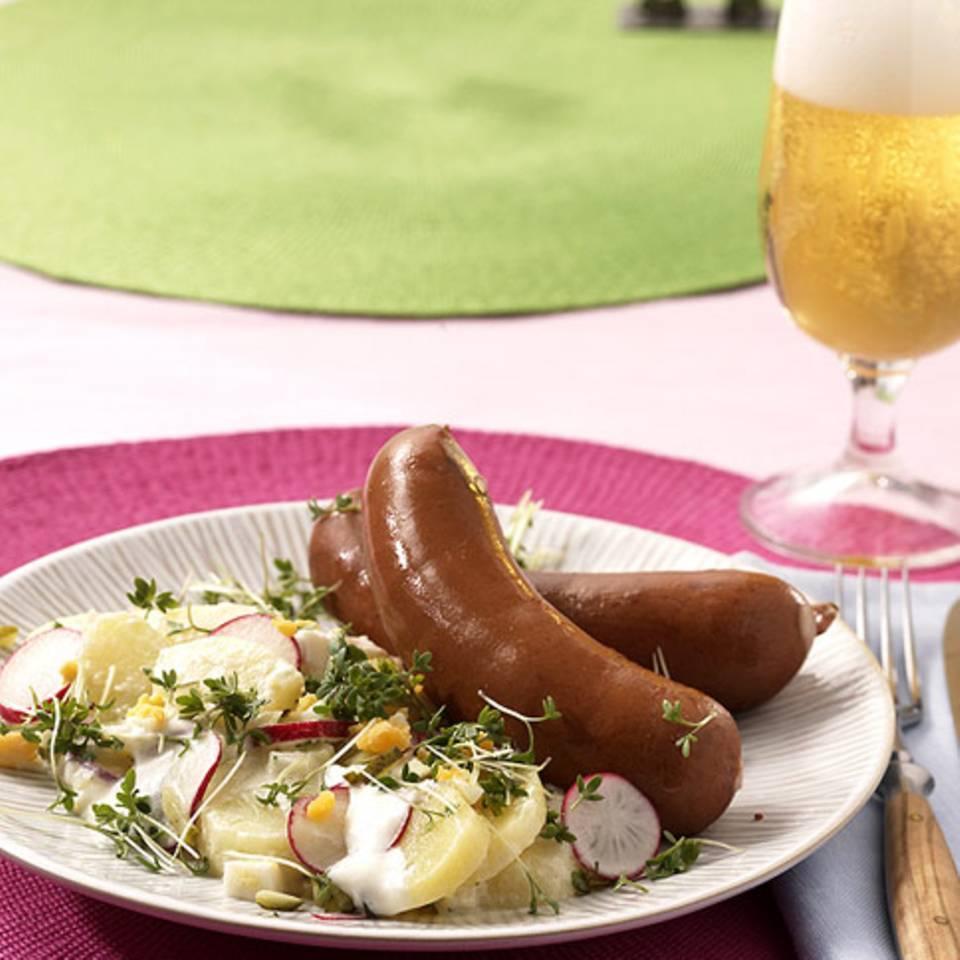 Tims Kartoffelsalat mit Bockwurst Rezept