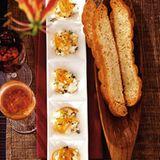 Ziegenkäse mit Honig-Orangen und Thymian