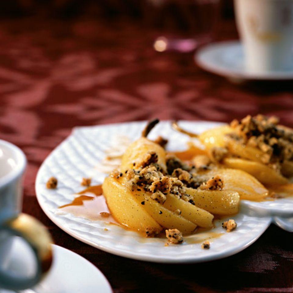 Birnen-Kaffee-Crumble