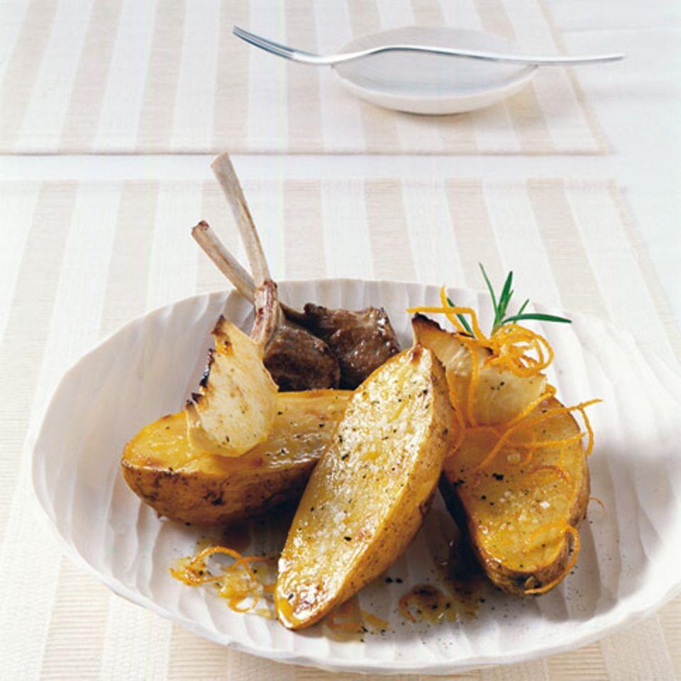 Ofenkartoffeln mit Orangenöl