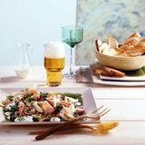 Kasseler-Birnen-Salat mit Meerrettichsauce