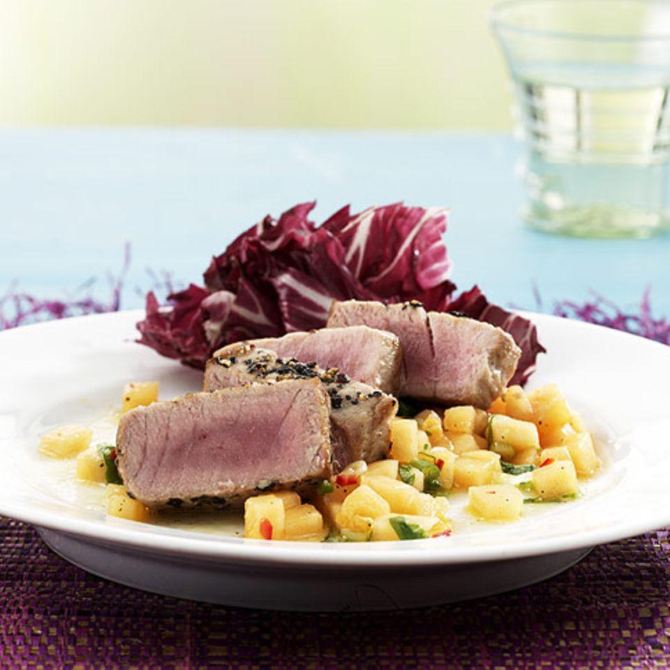 Thunfischsteaks mit Melonen-Salsa