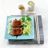 Teriyaki-Thunfisch mit Avocadocreme