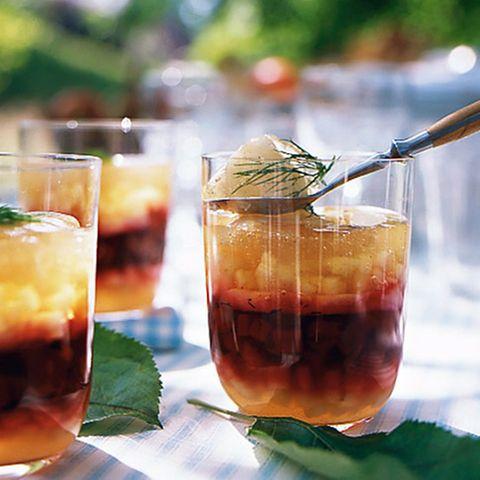 Cidre-Sülze mit Apfel  und Seeteufel