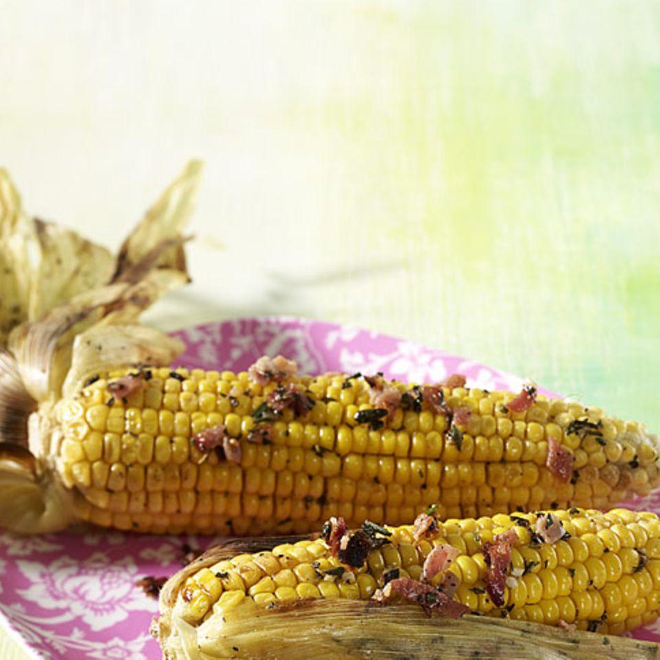 Maiskolben mit Schinkenbutter