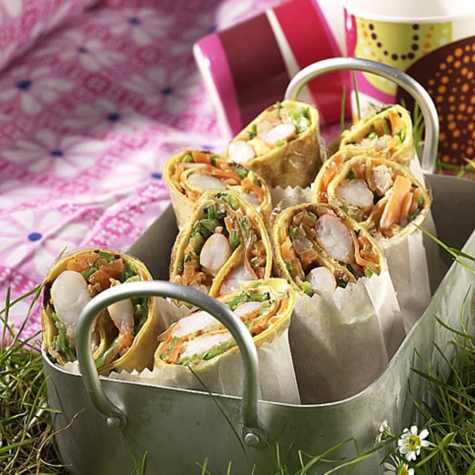 Pfannkuchen-Wrap Rezept