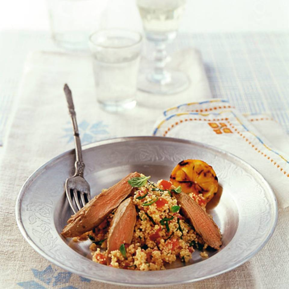 Lammfilet mit Couscoussalat Rezept