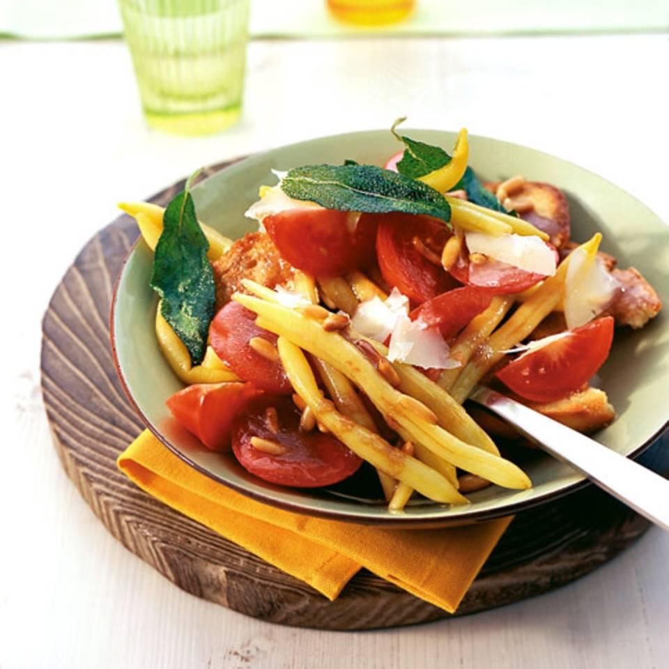 Tomatensalat mit Wachsbohnen Rezept