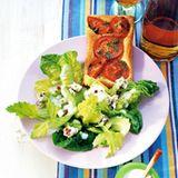 Römersalat mit Tomatenpizza