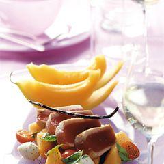 Thunfisch mit Melonensalat