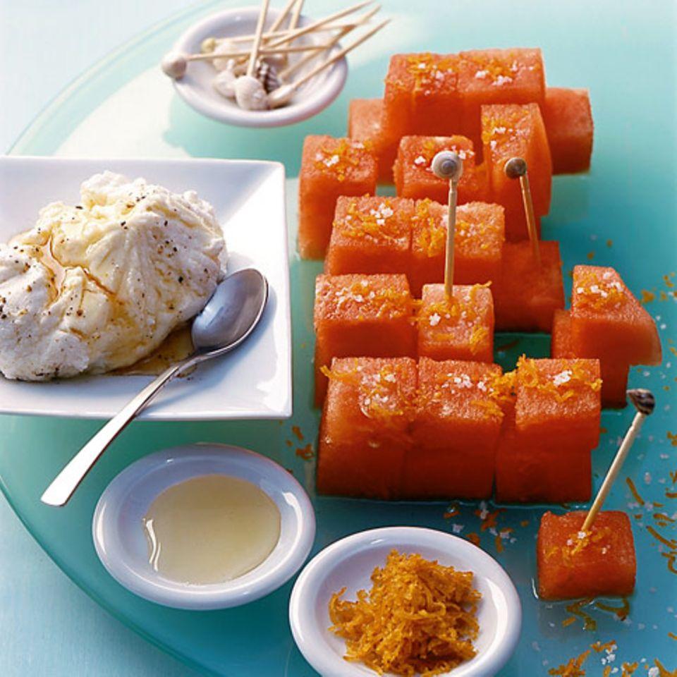 Wassermelone mit Bottarga