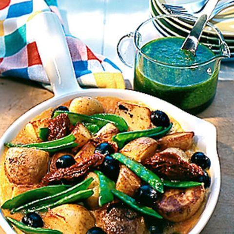 Kartoffelgröstl mit Mojo verde