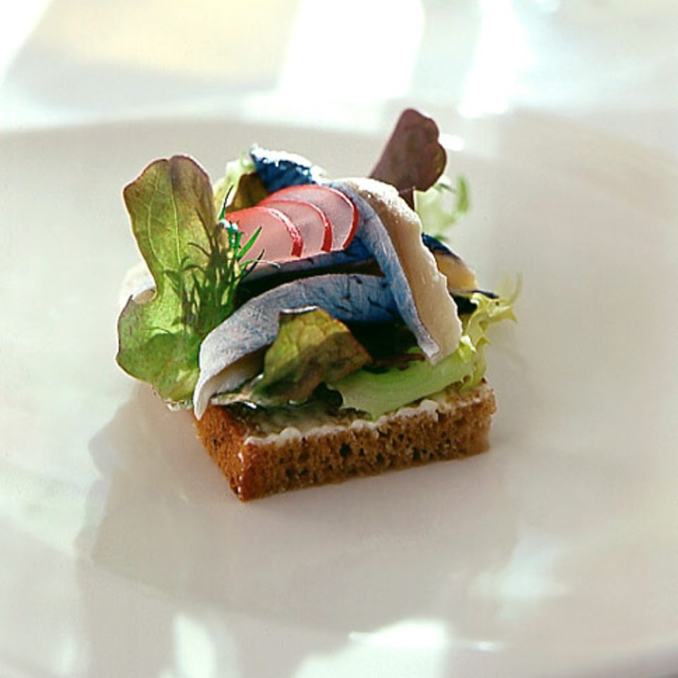 Smörgås mit Bismarckhering