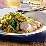 Curry-Couscous mit Zuckerschoten