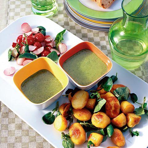 Radieschensalat mit Kressekartoffeln