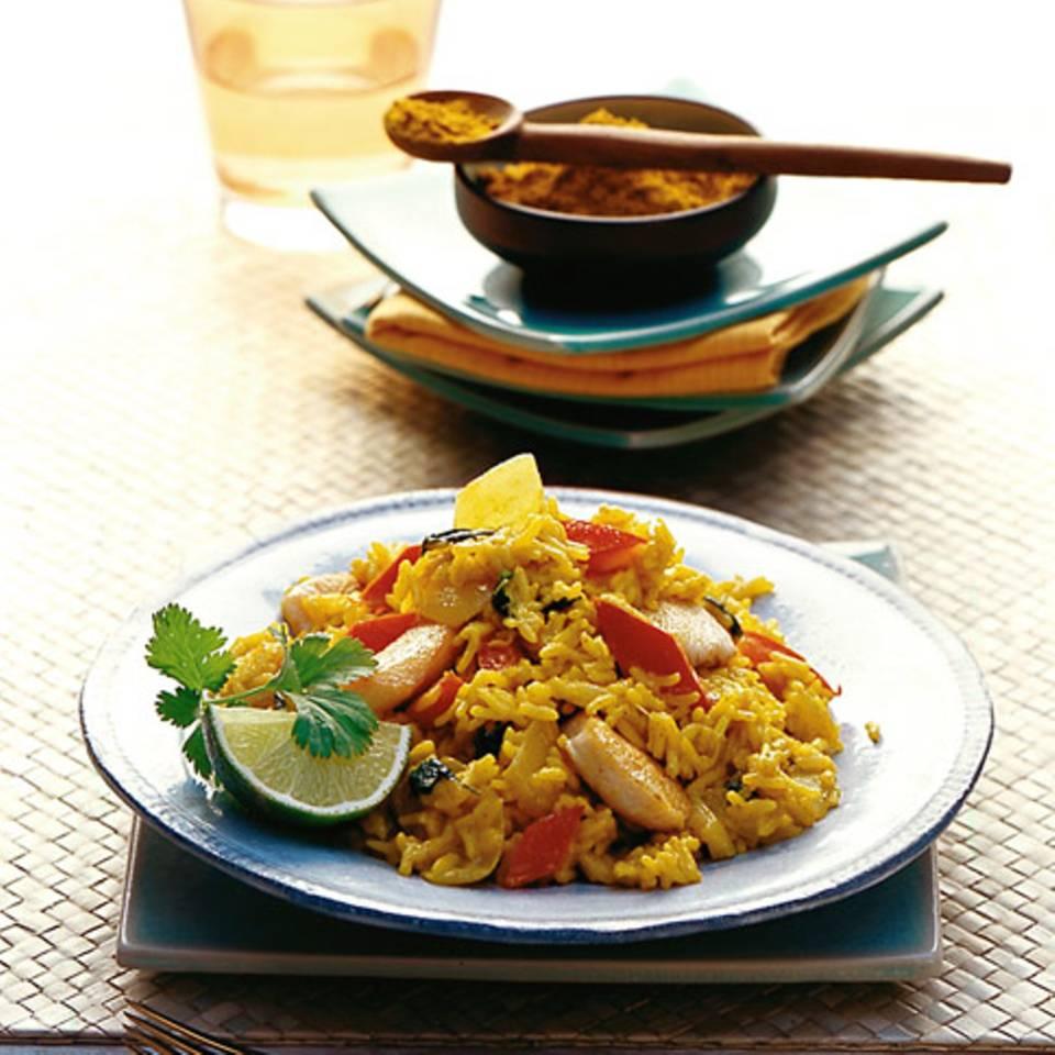 Curryreis mit Hähnchenbrust Rezept