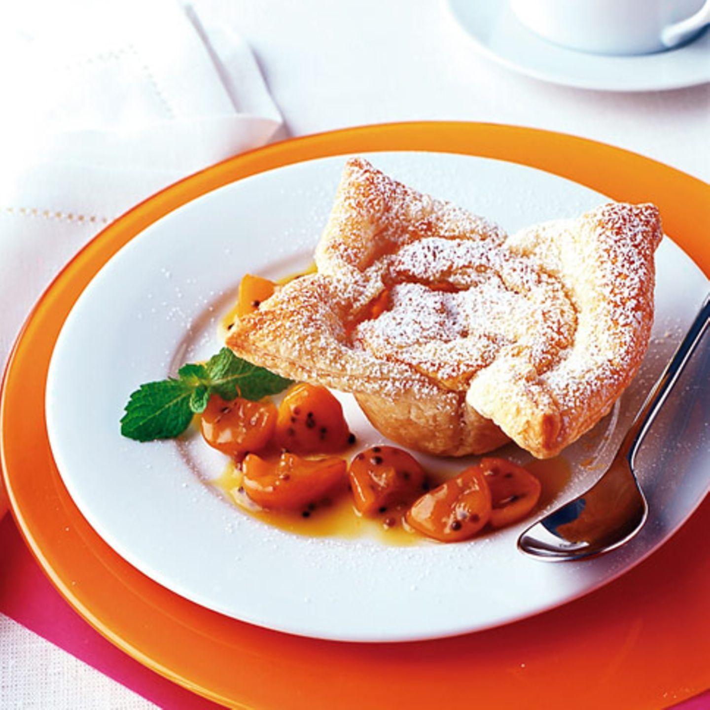 Ricotta-Törtchen mit Kumquatkompott