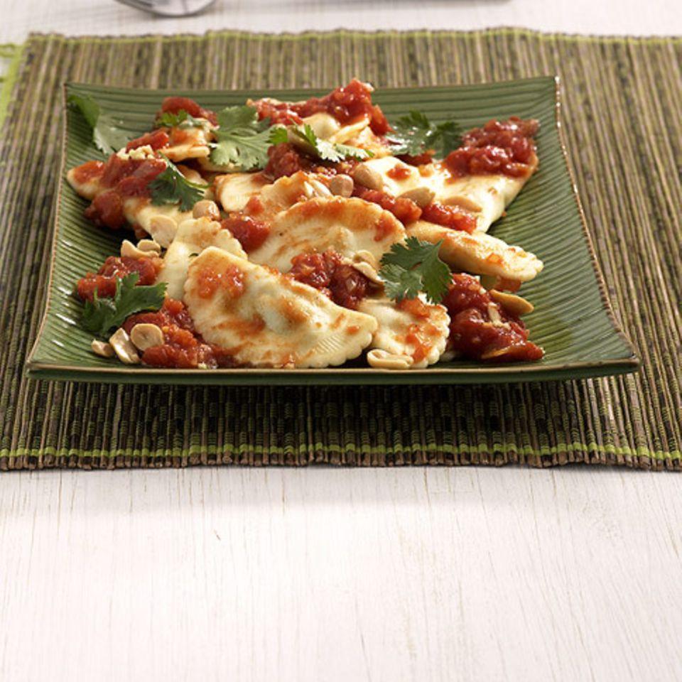 Ingwer-Tomaten-Ravioli