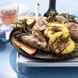 Saltimbocca mit Pfirsichen