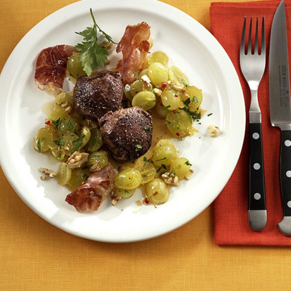 Reh mit Trauben-Chutney