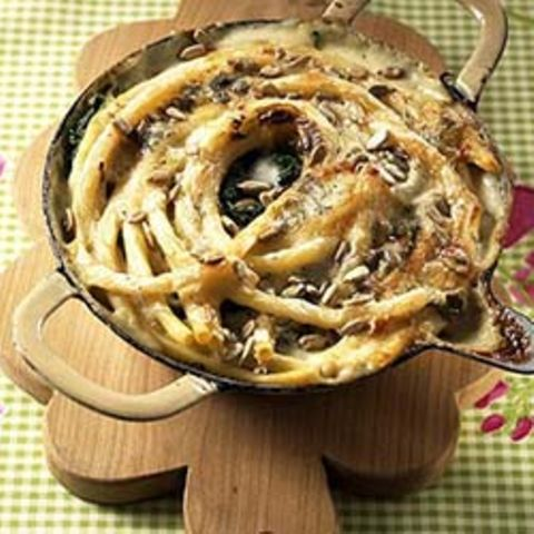 Makkaroni-Spinat-Auflauf