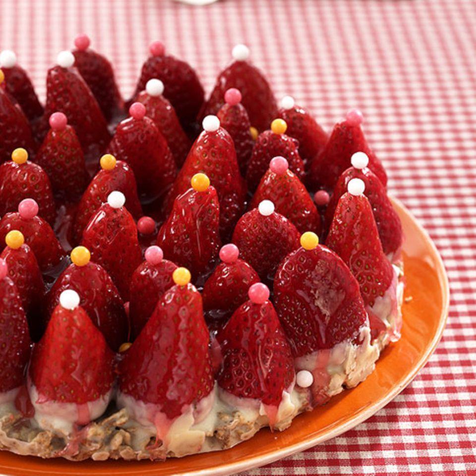 Erdbeer-Crossie-Torte