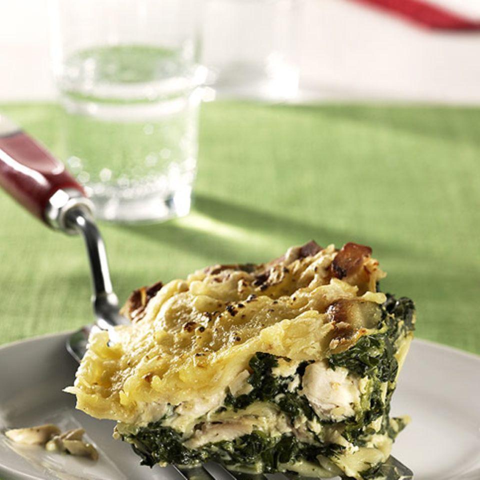 Hähnchen-Spinat-Lasagne