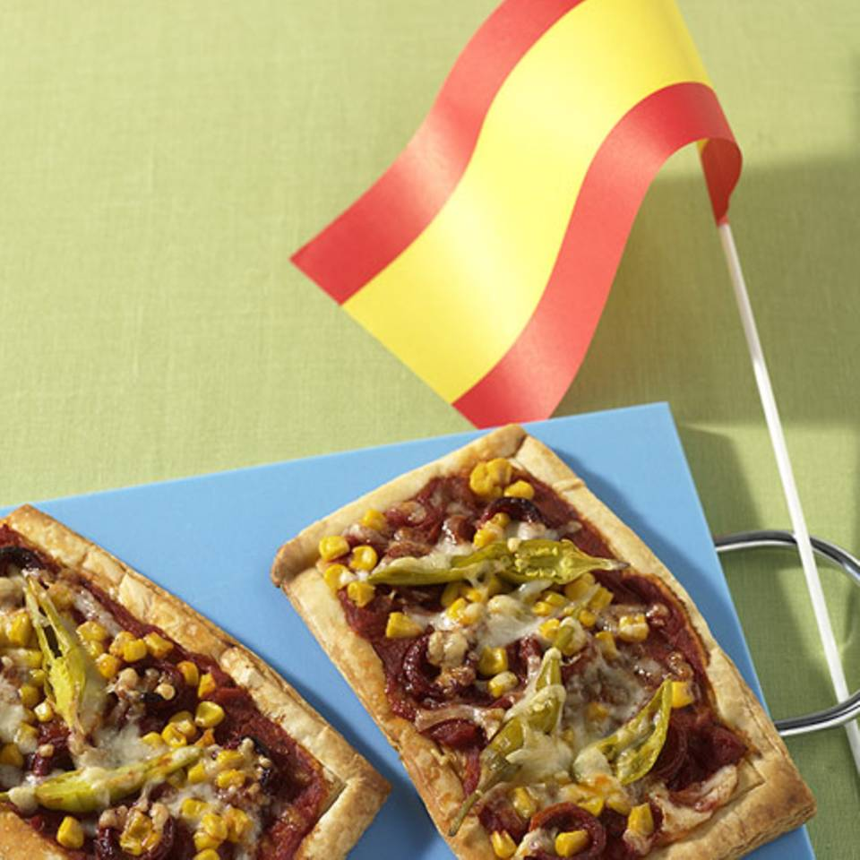 Spanische Pizza Rezept