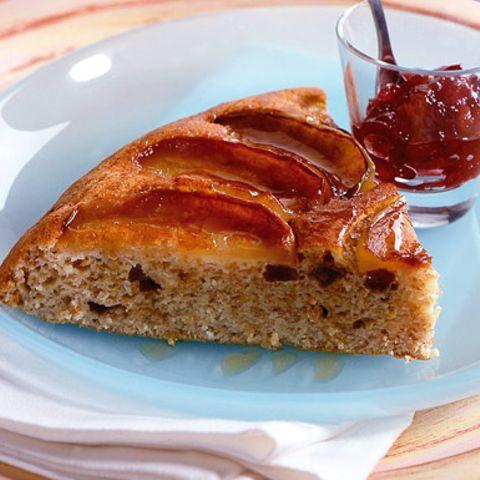Apfelpfannkuchen mit Ahornsirup