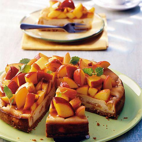 Pfirsich-Cheesecake