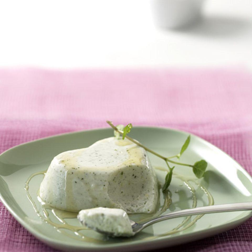 Minze-Joghurt-Mousse