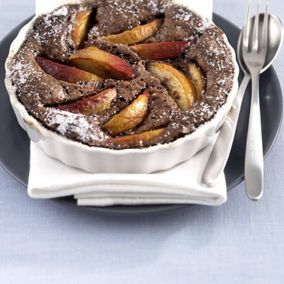 Schokoladen-Pfirsichauflauf Rezept