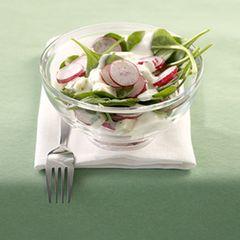 Spinat-Radieschen-Salat