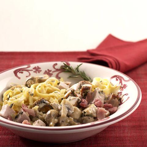 Braten-Pilz-Pasta