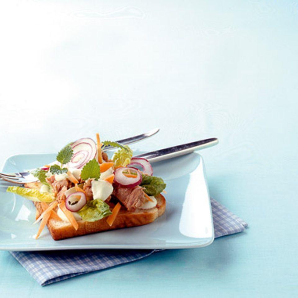 Thunfisch-Wasabi-Toast